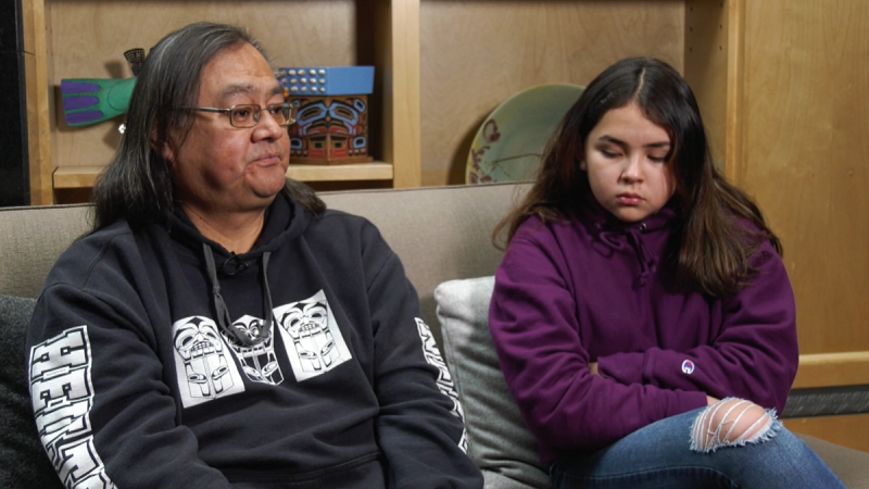 Maxwell Johnson and his granddaughter, Tori, speak to CTV News Vancouver on Monday, Jan. 20, 2020.