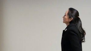 Meng Wanzhou, chief financial officer of Huawei, arrives for her hearing at B.C. Supreme Court in Vancouver, Monday, January 20, 2020. (THE CANADIAN PRESS / Jonathan Hayward)