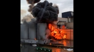 Movie set explosion in Kitsilano