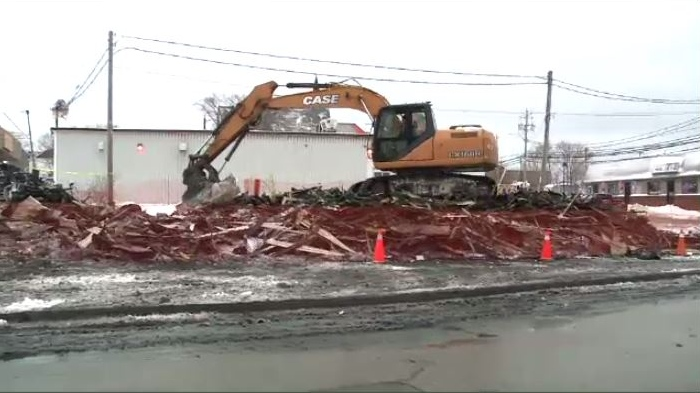 The building that once stood on a corner in downtown Glace Bay for nearly 100 years is now just a pile of rubble.