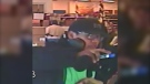 Police are looking for the male customer who punched a liquor store employee after being asked for ID at a store near 170 Street and 100 Avenue on Dec. 6, 2019. (Photo provided.)