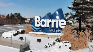 """Barrie city councillors voted to remove the """"Well Played"""" and """"Well Connected"""" slogans from the city's highway gateway signs, at General Committee, on Jan 20, 2020 (CTV Barrie Don Wright)"""