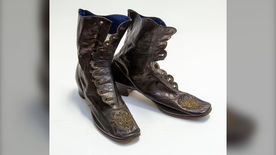 These boots that once belonged to Queen Victoria are among a number of items being sold at auction. (Hansons Auctioneers)