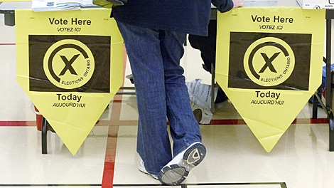 A file image from the October 2007 general election in Ontario. (THE CANADIAN PRESS/J.P. Moczulski)