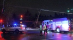 The driver of a pick-up truck crashed into a hydro pole late early in the morning of Tuesday, Jan. 21, 2020.