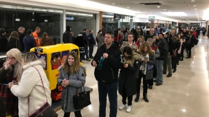 Thousands of people turn out to be extras in the Jason Mamoa-led 'See' which films in St. Thomas. (Sean Irvine / CTV London)