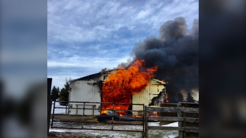 Rein Forth Equine, barn, fire,