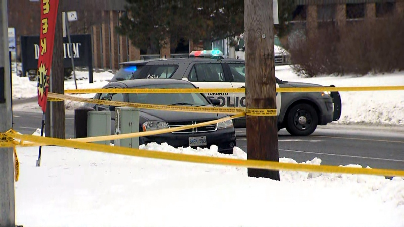 Toronto police officers are investigating a fatal collision in North York on Jan. 21, 2020. (CTV News Toronto)