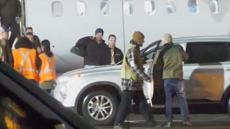 Prince Harry arrives at Victoria International Airport on Jan. 20, 2020.