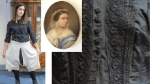 Some of the clothing items up for auction, and a Queen Victoria portrait, centre, are seen in this image. (source: hansonsauctioneers.co.uk)