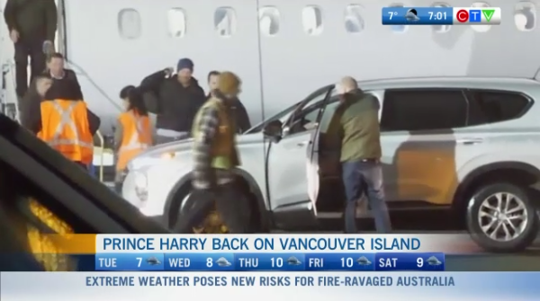 Prince Harry back in Victoria
