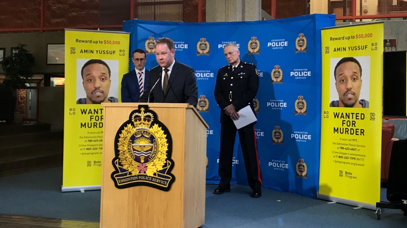 Police are offering a $50,000 reward for information leading to the arrest of Amin Yussuf, wanted in a fatal shooting at an Edmonton lounge in 2019. Jan. 21, 2020. (CTV News Edmonton)