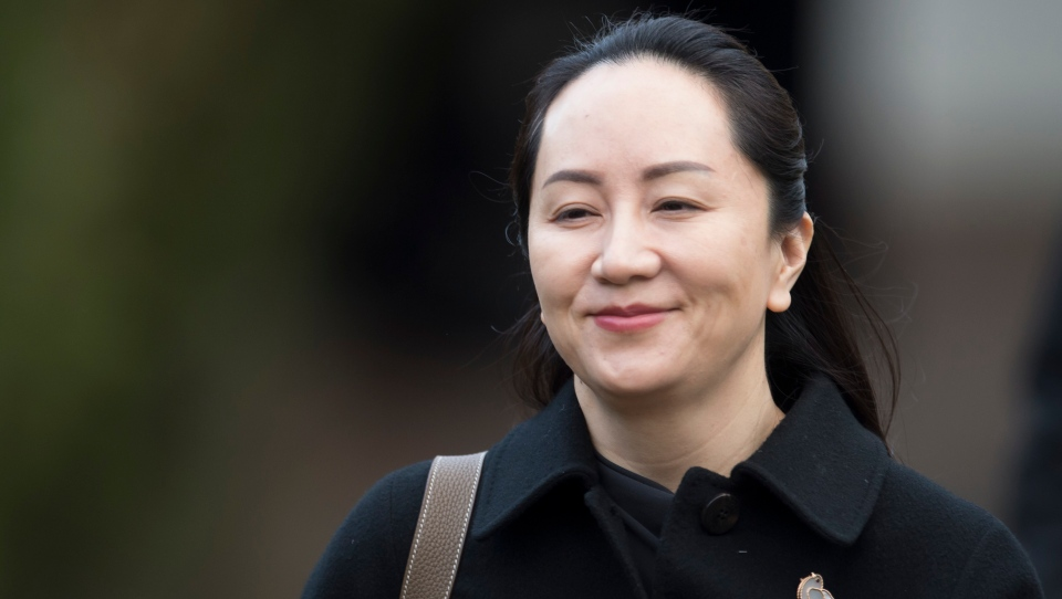 Meng Wanzhou, chief financial officer of Huawei, leaves her home to go to B.C. Supreme Court in Vancouver on Jan. 21, 2020. THE CANADIAN PRESS/Jonathan Hayward