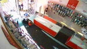 Suspects trapped in store after attempted theft