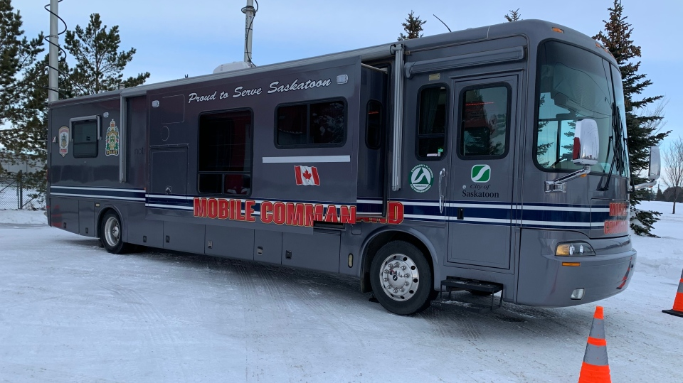 Mobile Command Unit for the Emergency Management Organization. (Nicole Di Donato/CTV Saskatoon)