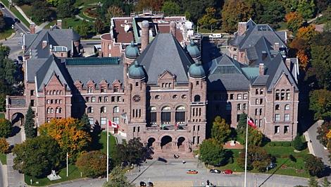 Queen's Park, Ontario's legislature. (Tom Podolec / CTV Toronto)