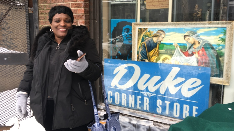 Udanapher Green, who goes by Nadine, owned Duke Corner Store for seven years. (Stephanie Villella / CTV Kitchener)