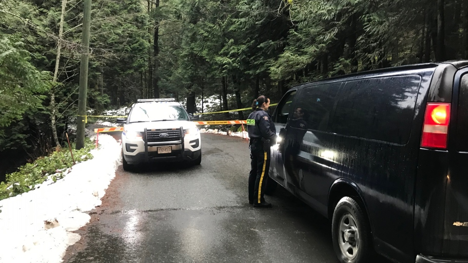The West Shore RCMP located a body in a parked vehicle Monday night: Jan. 21, 2020 (CTV News)