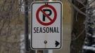 Seasonal parking ban to take effect