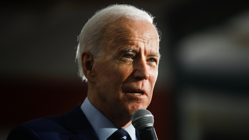 Democratic presidential candidate former Vice President Joe Biden speaks during a campaign event at Iowa Central Community College, Tuesday, Jan. 21, 2020, in Fort Dodge, Iowa. (AP Photo/Matt Rourke)