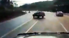 Dash cam video shows a scary moment on a B.C. hwy