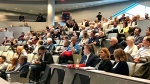 Edmonton City Hall, citizens attending council meeting about affordable housing project in Keheewin. Tuesday Jan. 21, 2020 (Sean Amato, CTV News Edmonton)