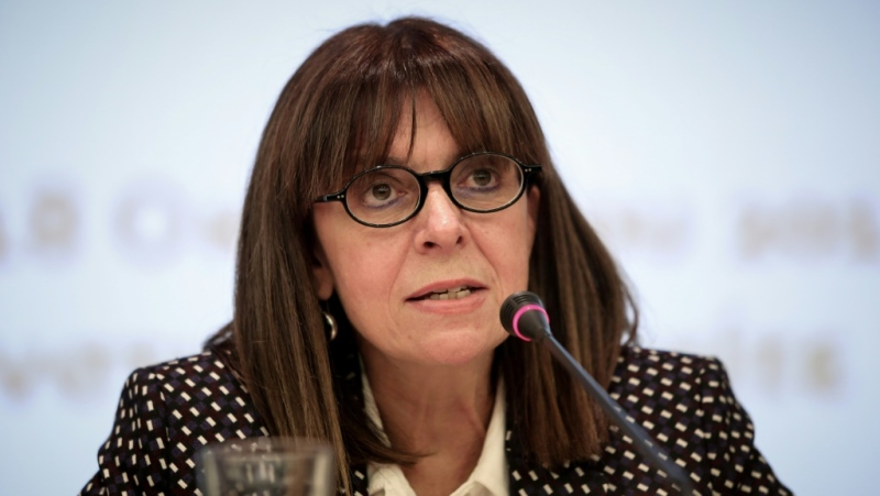 Ekaterini Sakellaropoulou is already the first woman to hold the top post at Greece's top administrative court. (AFP)