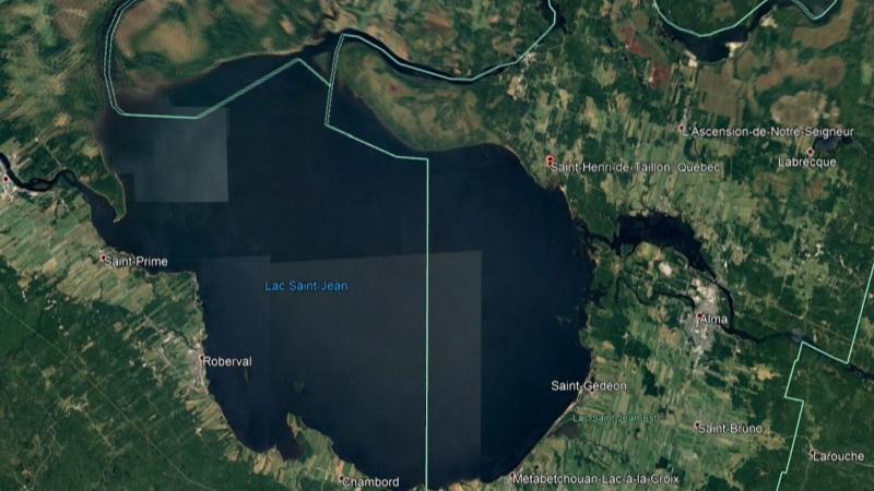 A map of Lac Saint-Jean.