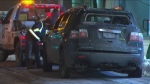 The vehicle driven into Queens Quay streetcar tunnel was towed away on Jan. 22, 2020.
