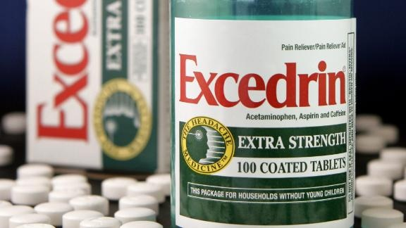 Pharmaceutical company GlaxoSmithKline says it has temporarily discontinued two types of Excedrin items as a precautionary measure.