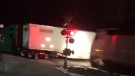 Commuter train couldn't avoid tractor-trailer