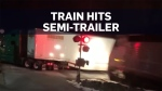 Caught on cam: N.Y. train crashes into tractor-tra