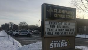 St. John Vianney Catholic School in Windsor on Wednesday, Jan. 22, 2020. (Bob Bellacicco / CTV Windsor)