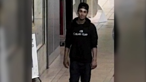 Laval police are looking for a suspect they allege stole a pair of sunglasses from a Sunglass Hut store in Carrefour Laval.