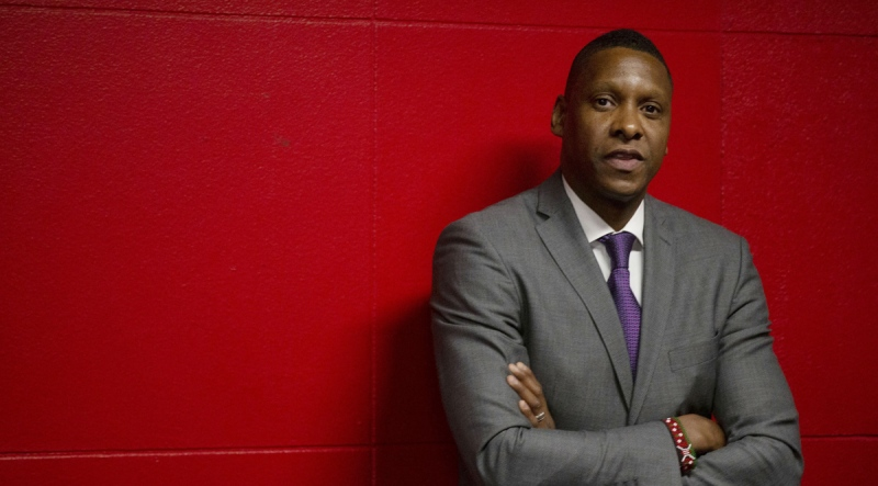 Toronto Raptors President Masai Ujiri in Toronto, on October 22, 2019. (Chris Young / THE CANADIAN PRESS)