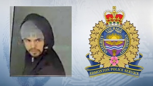 Police are looking for this man in connection with robberies at four cannabis stores in the Edmonton area. (Source: Edmonton police)