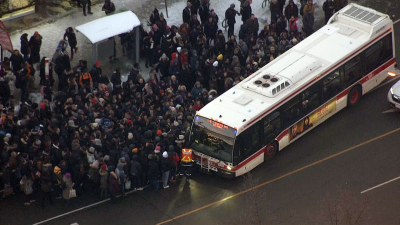 train derailment ttc delays