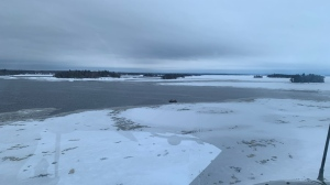 The SQ is searching for missing tourists who had been snowmobiling near Lac-St-Jean. (Photo: SQ)