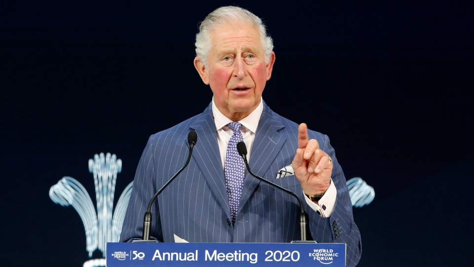 Prince Charles was addressing the World Economic Forum in Davos, Switzerland, for the first time in nearly 30 years. (Markus Schreiber/AP/CNN)
