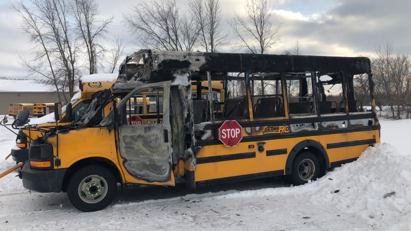 A bus driver is being hailed a hero after she got 7 children off this school bus before it burst into flames Monday, Jan. 20, 2020.
