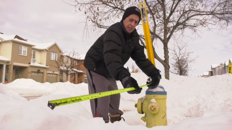 Trying to keep the hydrant clear