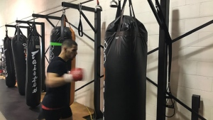 Muay Thai fighter Abdou Haddad who fights in Calgary at the Deerfoot Casino February 15, aims to be a role model for kids in Algeria, where he was born before he moved to Canada.