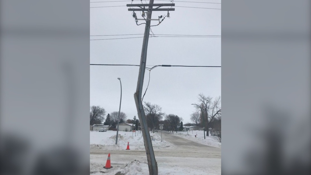 broken hydro pole