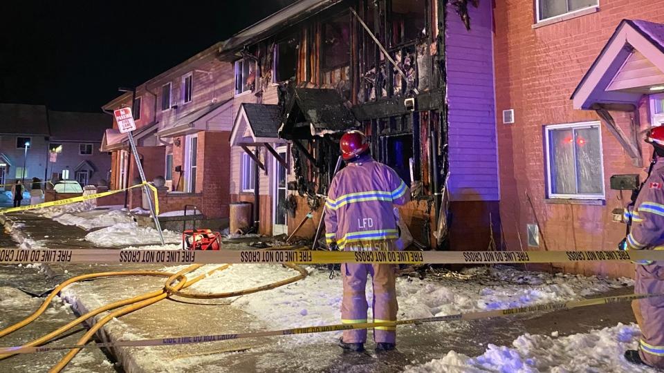 Kimberley Avenue townhouse fire