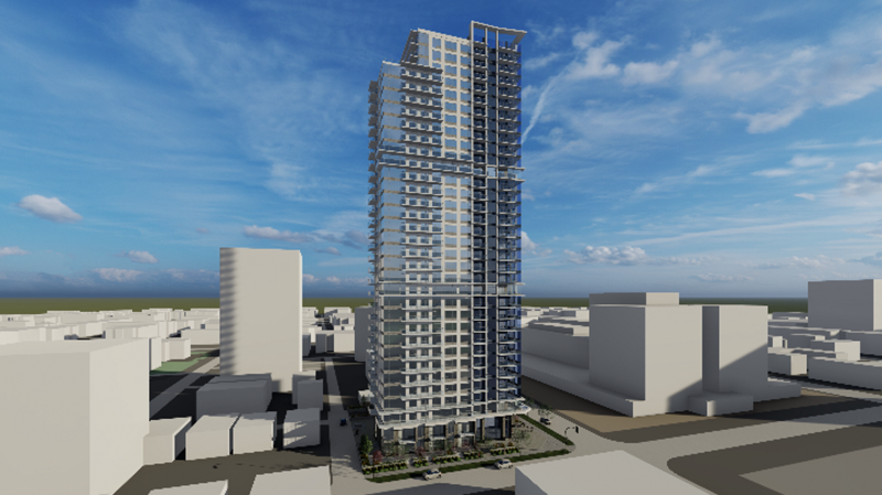 Rendering of new tower being developed by Westrich Pacific. Jan.22, 2020. (Westrich Pacific)