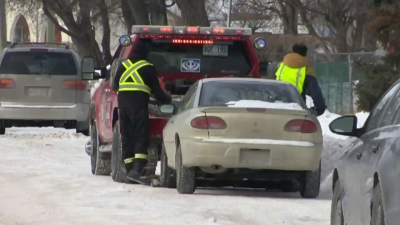 Drivers catch a break over snow route parking ban