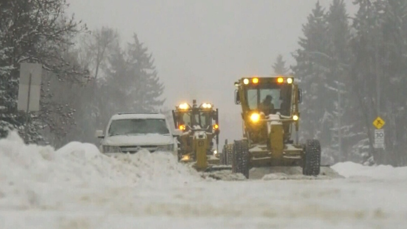 Significant snowfall in the capital region