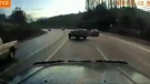 Police investigating near-miss caught on dashcam