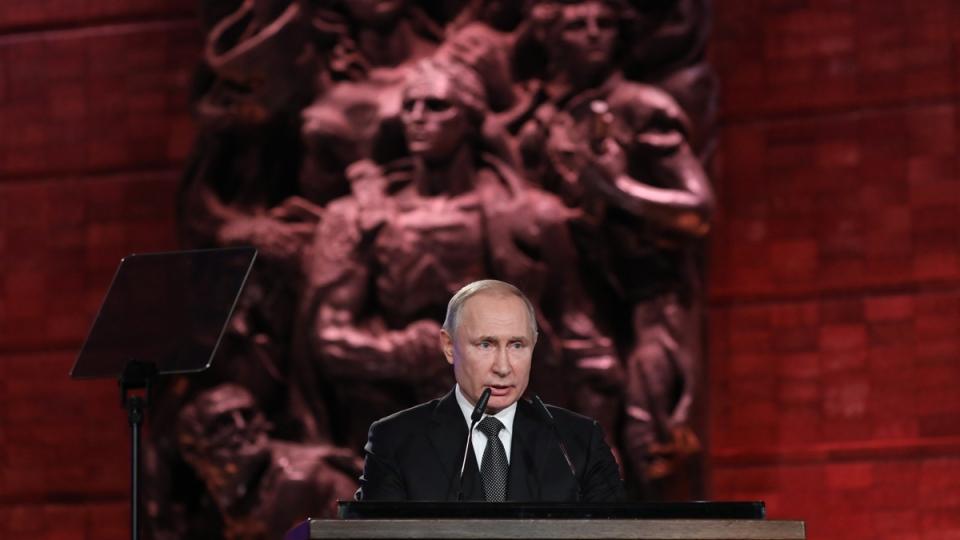 Russian President Vladimir Putin in Jerusalem