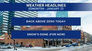 Jan. 23 weather headlines